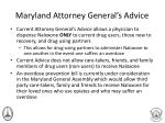 maryland attorney g eneral s advice