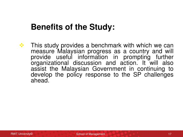 Benefits of the Study: