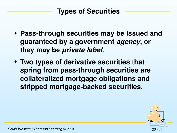 travelers mortgage securities cmo Of a mortgage security with other fixed-income investments as fixed-income securities, mbs prices fluctuate with changing inter-est rates: when interest rates fall, prices rise, and vice versa interest rate move-ments also affect prepayment rates of mbss when interest rates fall, homeowners refinance mortgages, and prepayment speeds accelerate.