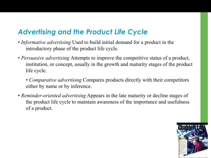 Advertising and the Product Life Cycle