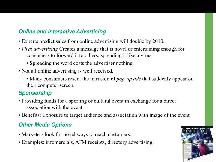 Online and Interactive Advertising