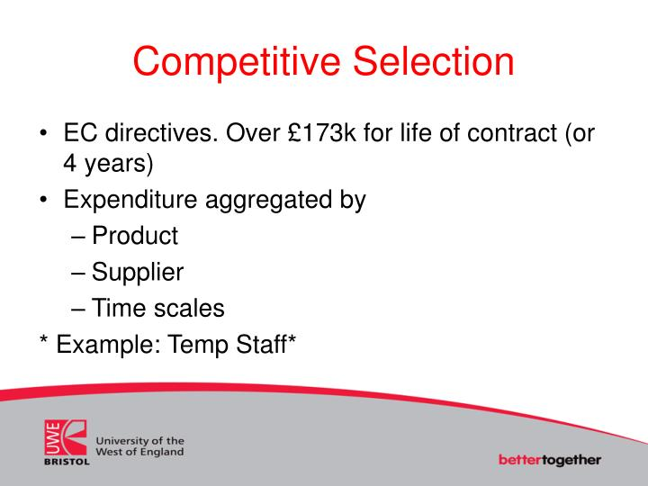 Competitive Selection