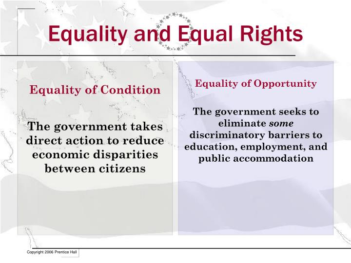 Equality and Equal Rights