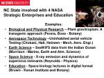 nc state involved with 4 nasa strategic enterprises and education