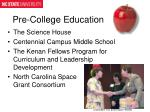 pre college education