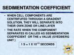 sedimentation coefficient