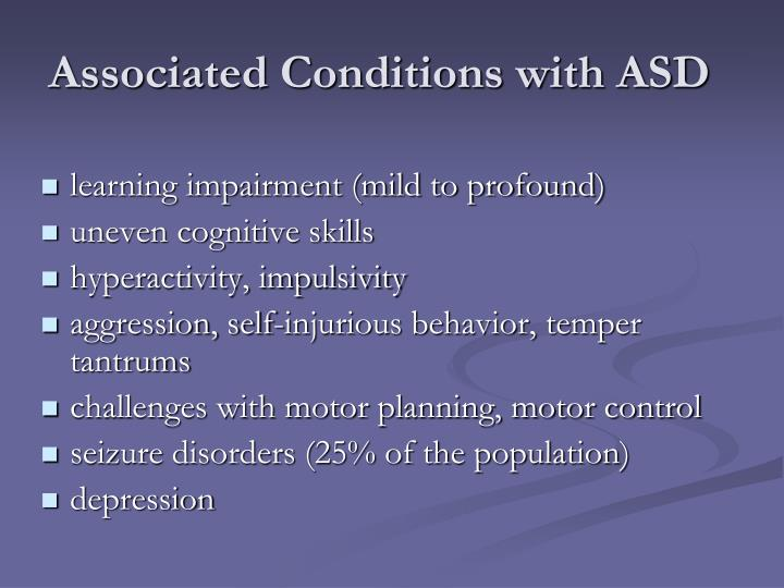 Associated Conditions with ASD