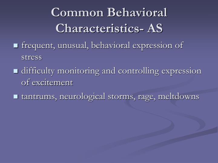 Common Behavioral