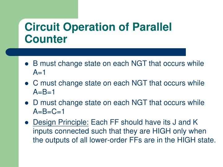 Circuit Operation of Parallel Counter