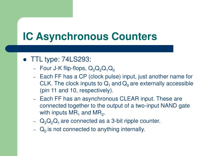 IC Asynchronous Counters