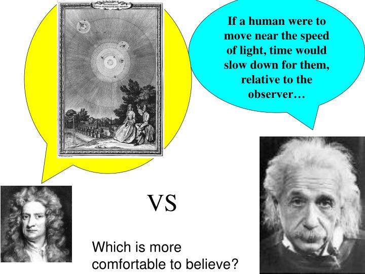 If a human were to move near the speed of light, time would slow down for them, relative to the observer…