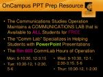 oncampus ppt prep resource