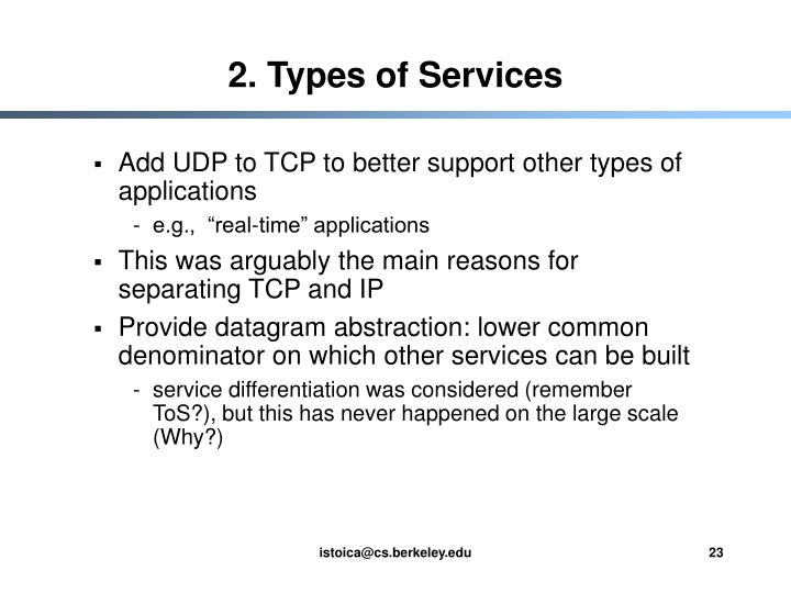 2. Types of Services