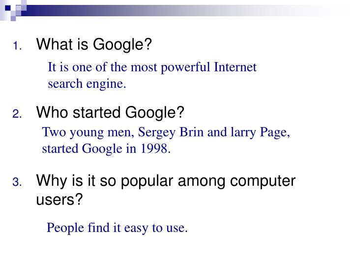 It is one of the most powerful Internet search engine.