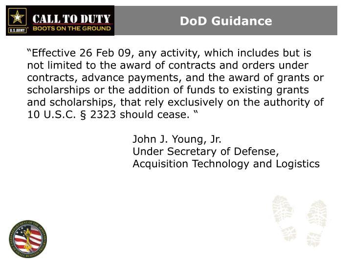 DoD Guidance