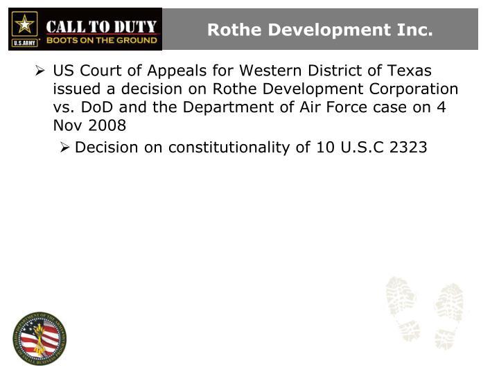 Rothe development inc