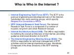 who is who in the internet