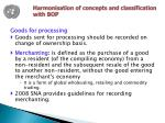 harmonisation of concepts and classification with bop