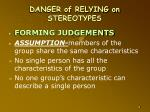 danger of relying on stereotypes1