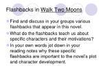 flashbacks in walk two moons