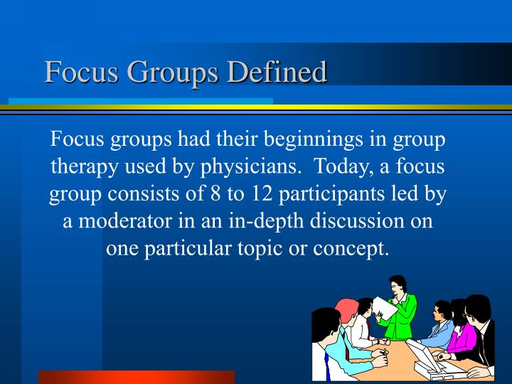 Focus Groups Defined