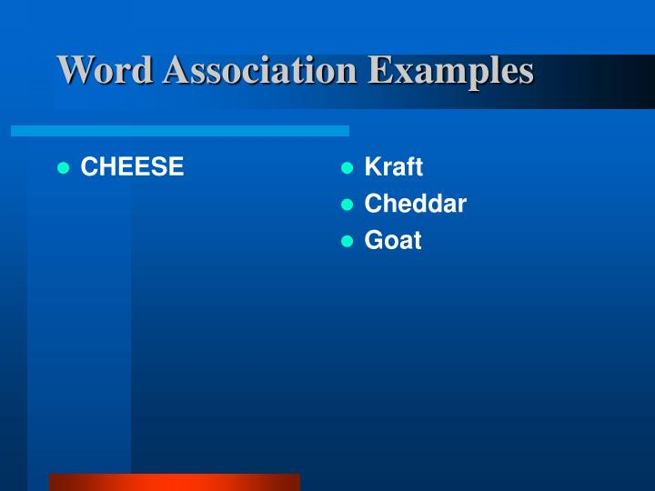 Word Association Examples