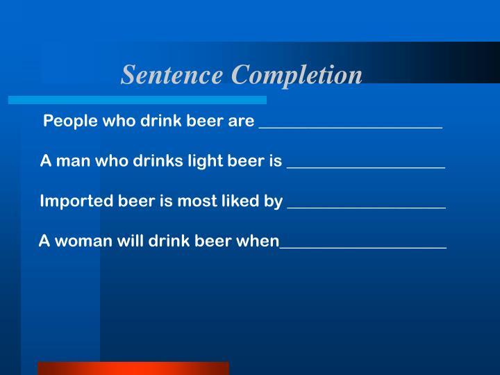 Sentence Completion