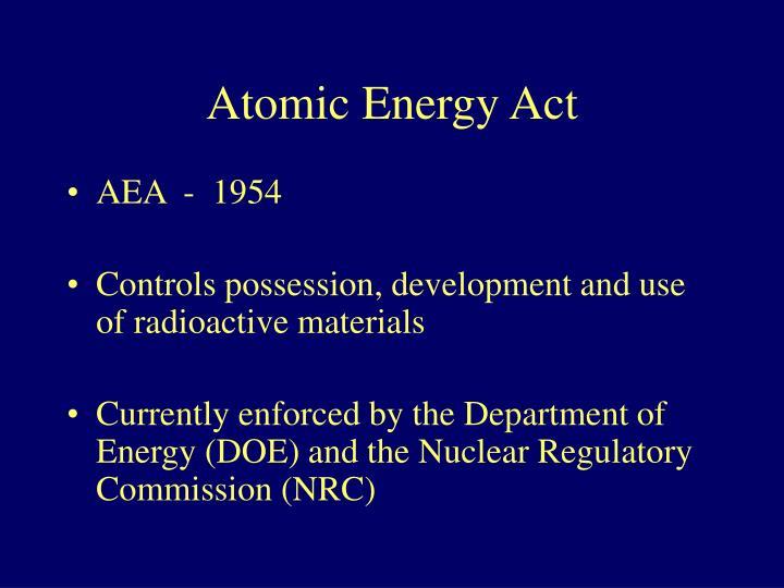 Atomic Energy Act