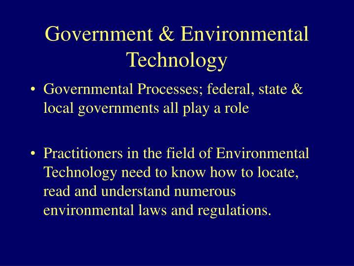 Government environmental technology