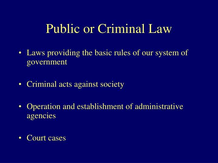 Public or Criminal Law