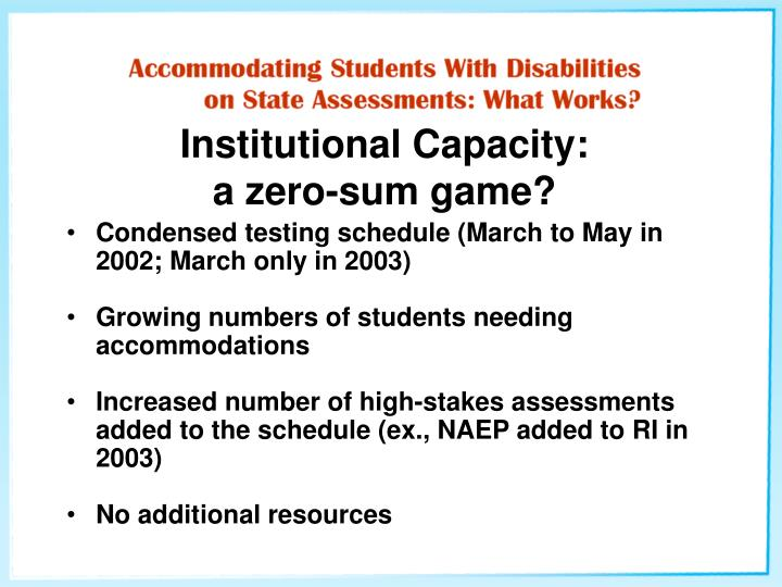 Institutional Capacity: