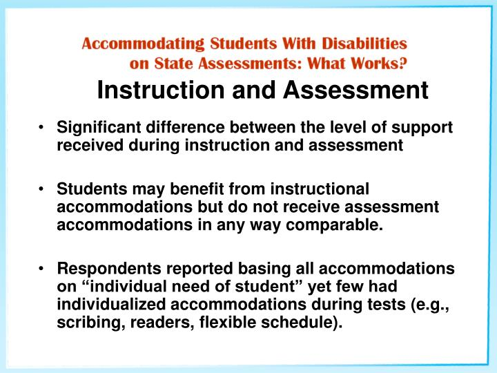 Instruction and Assessment