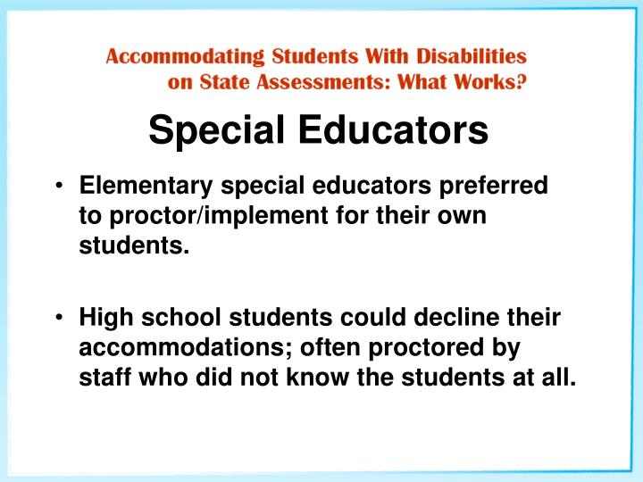 Special Educators