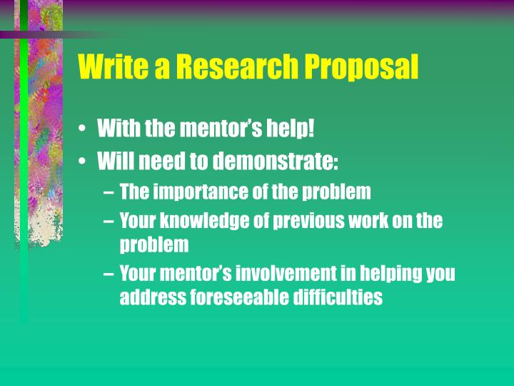 Write a Research Proposal