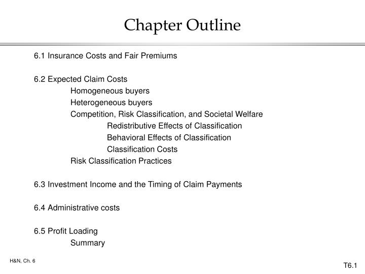 chapter outline n.