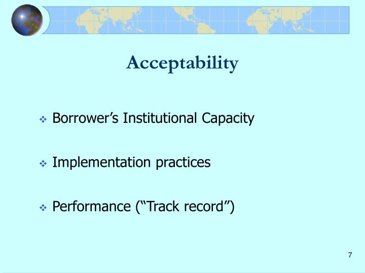 Acceptability