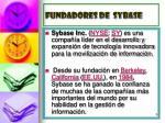 fundadores de sybase