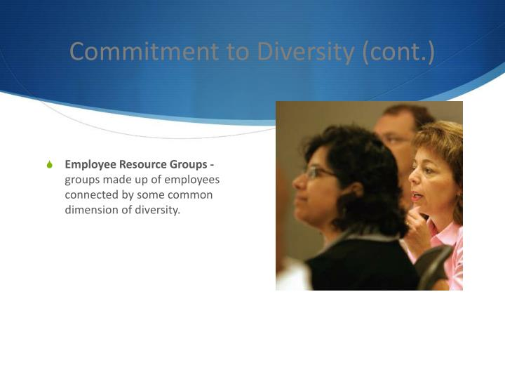 Commitment to Diversity (cont.)