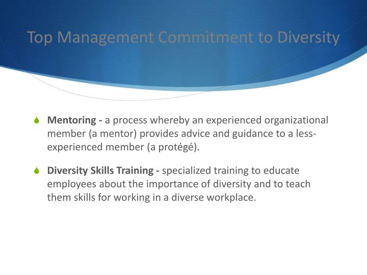 Top Management Commitment to Diversity