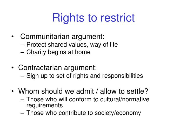 Rights to restrict