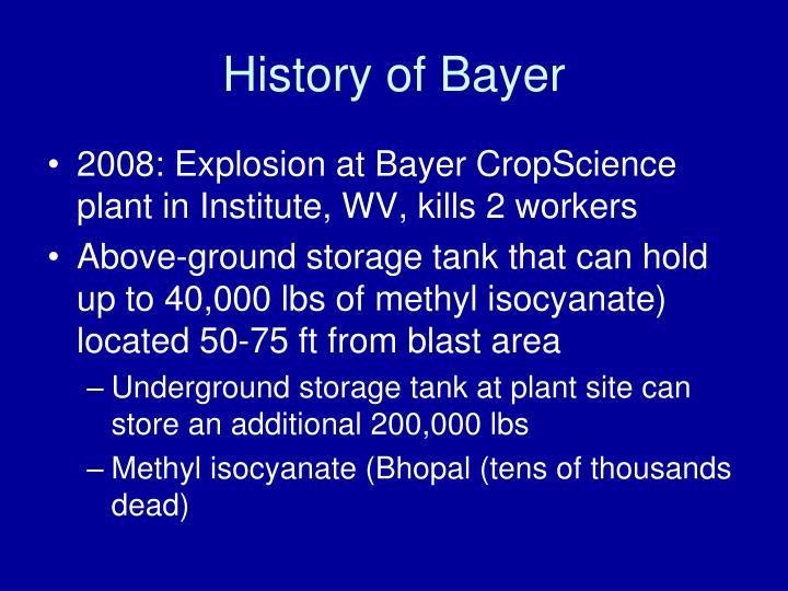 History of Bayer