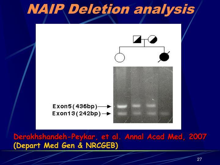 NAIP Deletion analysis