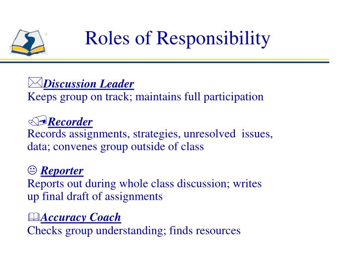Roles of Responsibility