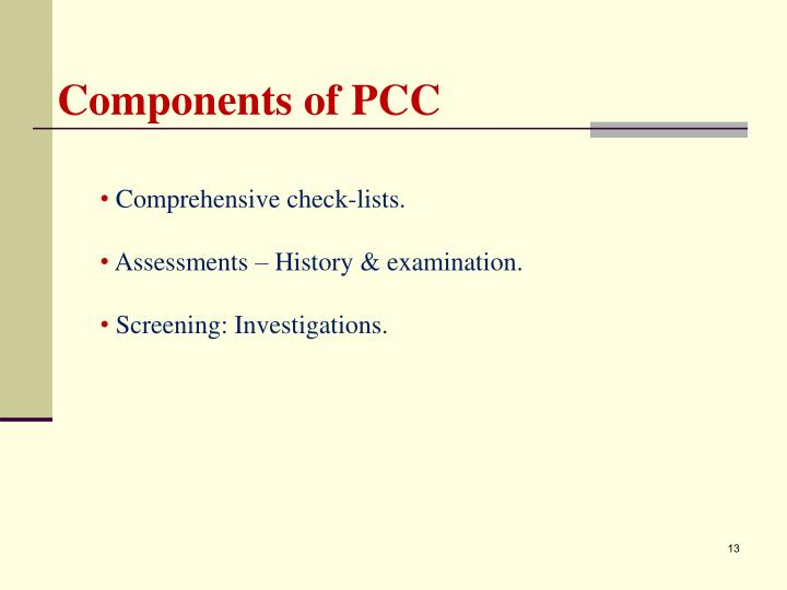 Components of PCC