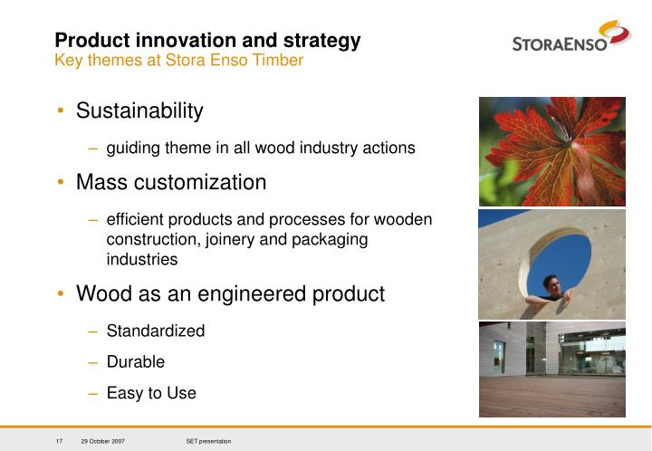 Product innovation and strategy