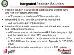 integrated position solution