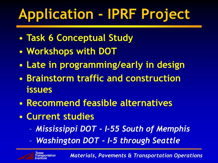 Application - IPRF Project