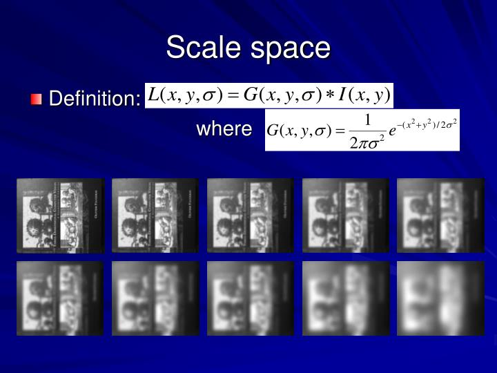Scale space