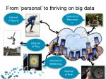 from personal to thriving on big data1