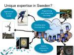 unique expertise in sweden